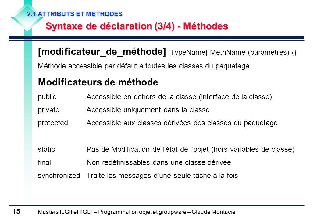 [modificateur_de_méthode] [TypeName] MethName (paramètres) {}